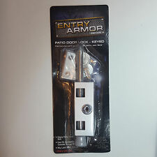 Patio Door Lock Heavy Duty With 2 Keys Sliding Door Window Lock Entry Armor