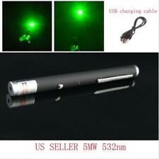 Green Laser Pointer Upto 10 Mile Range 5 Mw 532nm Usb Rechargable -Uksf