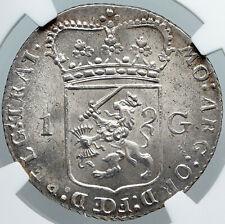 1794 NETHERLANDS Dutch Republic UTRECHT ANTIQUE Silver Gulden Coin NGC i88760