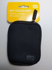 Western Digital WD Genuine My passport soft pouch 2.5 hdd Neoprene case BLACK
