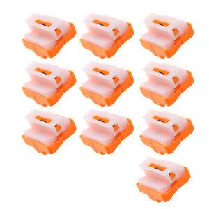 10 pcs Spare Replacement Cutter Cutting Machine Paper Trimmer Blades Orange