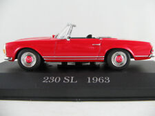 Altaya #03 Mercedes-Benz 230 SL Roadster (1963) in rot 1:43 NEU/PC-Vitrine