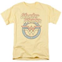 Wonder Woman Faded Wonder T Shirt Mens Licensed Classic DC Comics Tee Banana