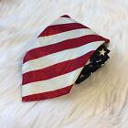 Roberto Cellini American Flag Mens Classic Tie Patriotic USA 100% Polyester