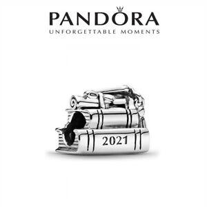New Pandora S925 ALE 2021 Graduation Books Cap Bracelet Charm Authentic Bead