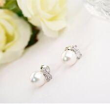 Ivory White Pearl Stud Earrings Bridal Jewelry Wedding Pearl Stud Earrings Women
