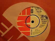 """MARC BOLAN & GLORIA JONES   To Know Him . . .   7"""" single   VERY RARE!"""
