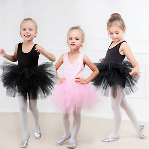 Toddler Girls Gymnastics Ballet Dress Leotard Tutu Skirt Dance Ballerina Costume