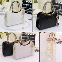 Ladies Womens Leather Shoulder Bag Tote Messenger Crossbody Satchel Purs Handbag