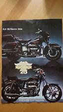 Pubblicità Advertising HARLEY DAVIDSON FL H 80 Elettra glide e XLH / XLCH 1000