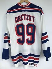 NEW YORK RANGERS NHL HOCKEY SHIRT JERSEY CCM WAYNE GRETZKY 99