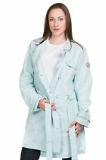 Ladies Trench Coat Double Brested Tie Waist Rich Cotton Classic Outwear 8 to16