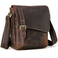 Real Leather Sling Shoulder Messenger Bag Fashion Men Cross Body iPad Air Case