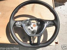 VW POLO 6C LEDERLENKRAD LENKRAD MULTIFUNKTION 6C0419091G GYR ORANGE NAHT NEU !