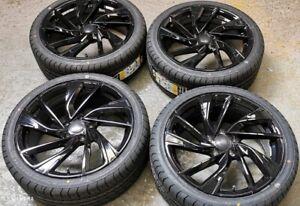 "18"" VW Golf GTI Adelaide Style Black Wheels+tyres fits VW Golf MK5 MK6 MK7 (x4)"