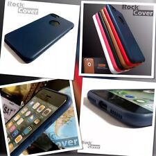 Genuine Rock Cover TPU Flexible Tech Silicone Leather Apple iPhone 7 Blue Case