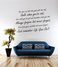 Life Goes On Wall Art Sticker Quote Decal Vinyl Transfer