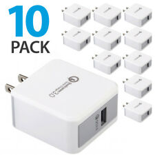 10x Quick Charge 3.0 Qualcomm Certified 18W Fast Rapid USB Wall Charger Adapter