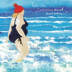 Swimming In The Sea Greetings Card - Susan Steggall Windsock Press swim