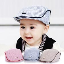 Summer Baby Boy Kids Girl Hats Children Baseball Peaked Beret Hat Stripe Cap  New 1930b95a32a8