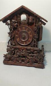German Black Forest Carved Bracket Cuckoo Clock for restoration