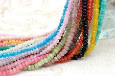 Dye Jade Faceted Roundelle Gemstone Loose Beads - 2mm x 4mm - Full Strand