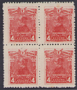 dd52 Mexico #509 CEATRO 4ctv Mint Never Hinged in Block-4 est VF