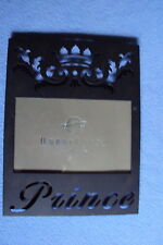 "HOBBY LOBBY 8.5"" X 6.5"" PRINCE CROWN PICTURE PHOTO FRAME METAL BLACK MATTE NEW"