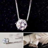 Fashion Simple Crystal Necklace Invisible Line Zircon Clavicle Pendant Chain Hot
