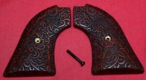 Heritage Arms Rough Rider Wood Grips .22 lr / .22 mag Floral Scroll RW