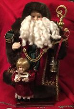"16"" Fabric Santa Grandeur Noel Collectors Edition 2001 Christmas Holiday Claus"
