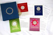 (4) 1967-1968 FRANKLIN MINT Christmas COIN Holiday Season Cards Medal Set