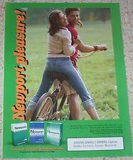 2006 print ad page - Newport cigarettes sexy fun Girl Guy on bike tobacco ADVERT