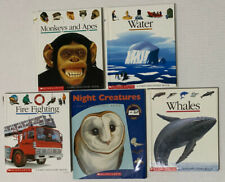 A First Discovery Book Set Of 5 Monkeys And Apes, Whales, Fire Engines & More
