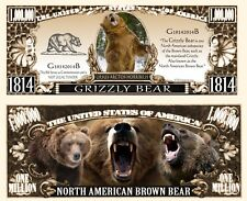 Our Grizzly Bear Dollar Bill (2 Bills)