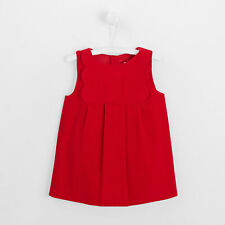 Jacadi Baby Girl Dress Fine-Ribbed Corduroy 1 Mo Red Lacquered