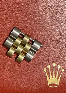Maillons de bracelet ROLEX Jubilee en Or et Acier 15,5 mm avec vis
