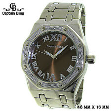 Men's Elegant Dress Watch Hip HOP style  ICE NATION /CAPTAIN BLING #WM372 New