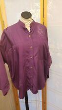 NWT Meng Designs Rayon Batik Top Shirt Purple ONE SIZE CUTE