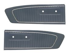 Mustang Door Panels Standard Vinyl Pair 1964 1965 Blue - TMI