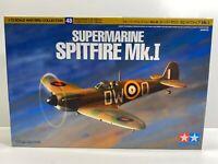 Tamiya 1/72 Scale Supermarine Spitfire Mk.I Warbird Collection Boxed Model Kit