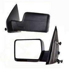 For 04-06 Ford F150 Pickup Truck Black Manual Side Mirror Pair