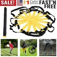 Speed Agility Training Ladder 12/8 Rung 15Ft Soccer Football Fitness Equipment A