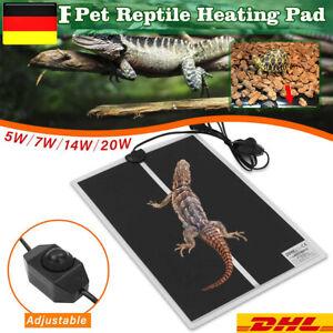 Pet Reptile Terrarium-Heizkissen-Heizmatte mit Thermostatregler EU-Stecker DE