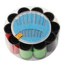 Sewing Kit Multicolor Thread Spool Roller Needles Pins Travel Home Repair Set