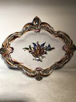 Hand Painted Ceramic Soap Dish Made In Portugal