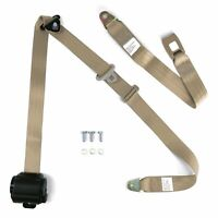 3pt Bench Seat Belt Conversion/Replacement Tan Retractable Standard Buckle Ea.