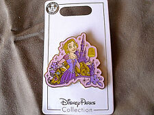 Disney * PRINCESS RAPUNZEL & SPARKLE CASTLE * New on Card Trading Pin