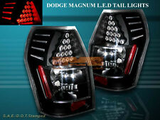 05 06 07 08 DODGE MAGNUM BLACK TAIL LIGHTS WITH LED REAR LAMPS