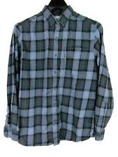 Columbia Men's Shirt Size M Blue plaid Button front Long Sleeve Button collar